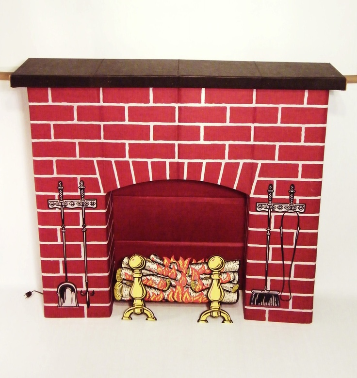 OMG! Yes, a fake fireplace made of corrugated cardboard