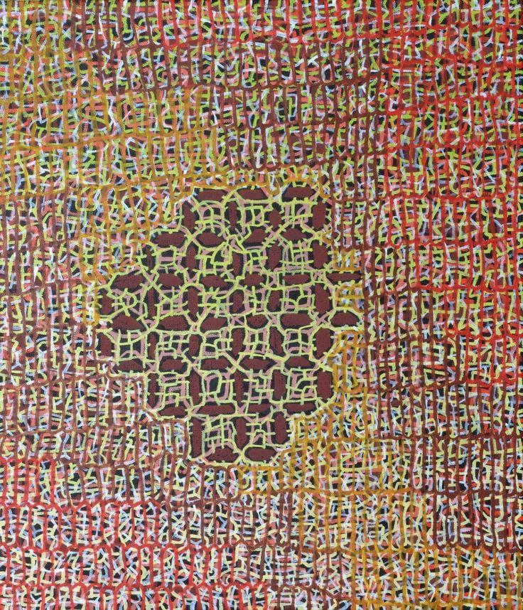 Miika Nyyssönen: Spring nets, 2015, öljy kankaalle, 70x60 cm - Taidemaalariliiton teosvälitys 2016