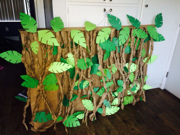 Jungle back drop for candy table
