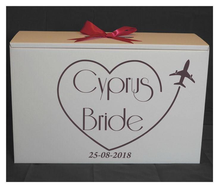 Cyprus Bride Wedding Dress Travel box.