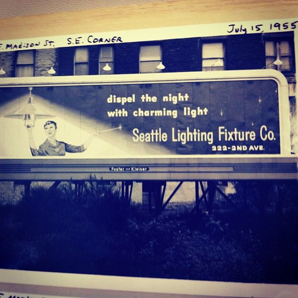 outdoor lighting seattle wa. a seattle lighting billboard from back in the on corner of and e madison seattle, wa. outdoor wa r