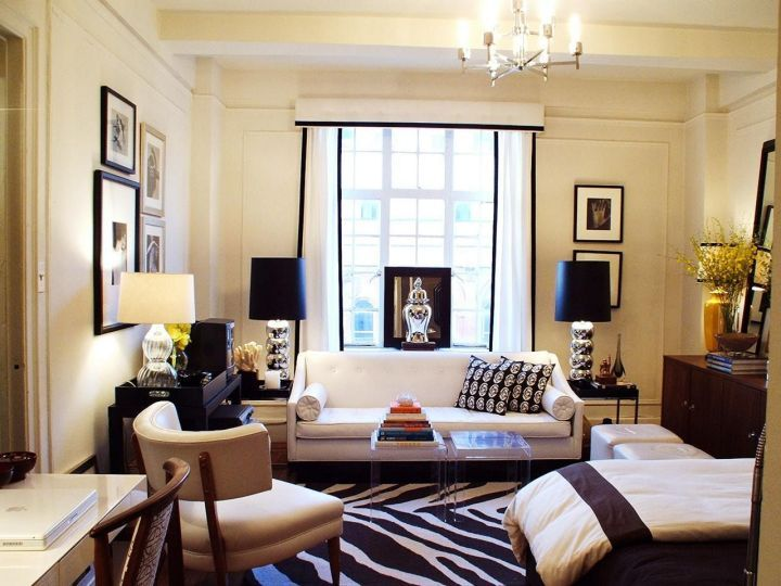 Small Square Living Room Layout 2 Studio Apartment Decorating