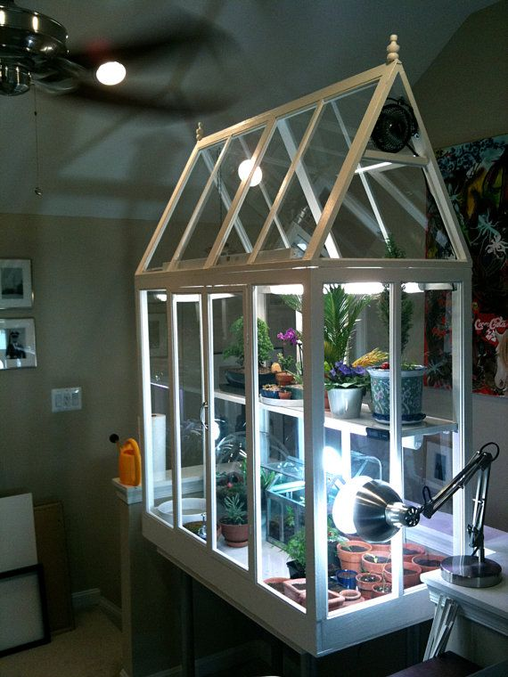 Plans for Incredible Custom Indoor Greenhouse - One of a kind. $99.00, via Etsy.