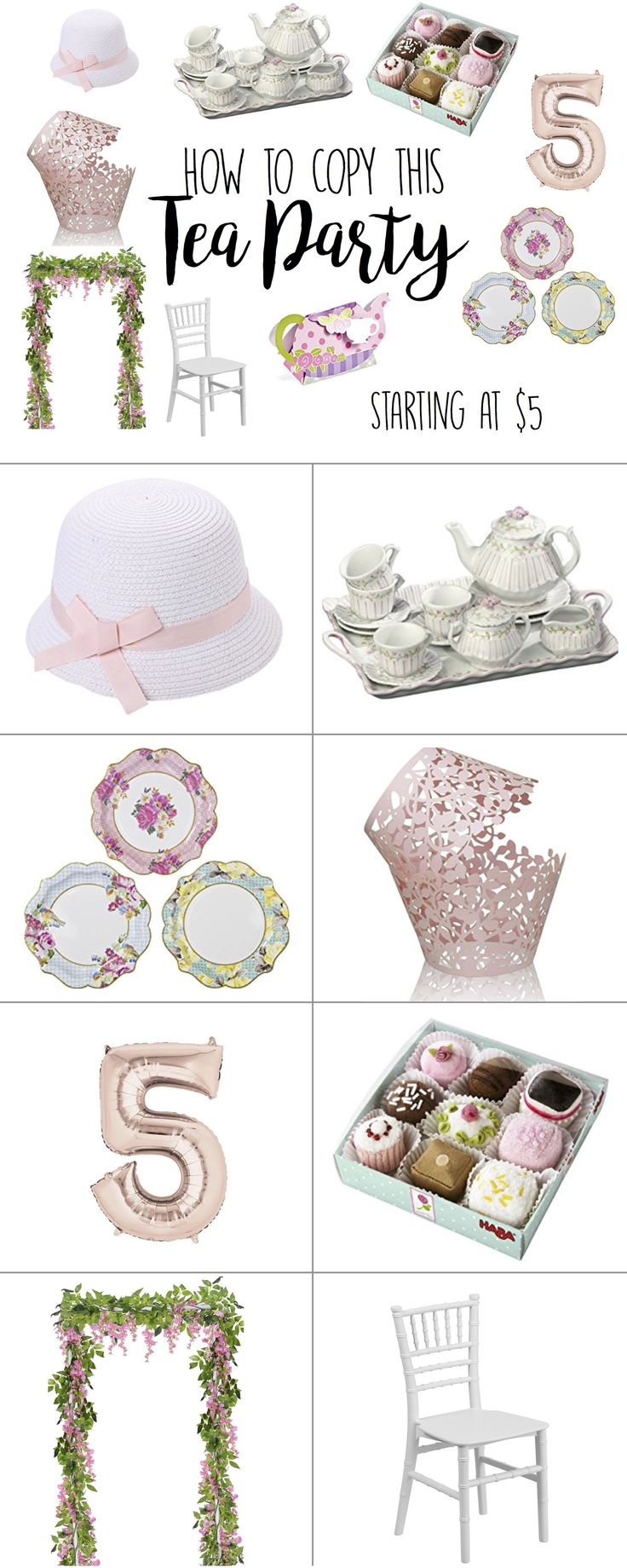 Birthday Party Ideas for Girls, Tea Party Birthday Theme Ideas, Tea Parties for Little Girls, Teapot and tea cups, china dishes for tea parties, tea party ideas theme decor decorations, tea party petit fours, cupcake liners, party banquet chairs for girls, rose gold number balloon, 2018 party themes, top girl party theme ideas, parties for little girls, fancy frilly fun tea parties, shabby chic party, birthday party ideas for four year olds, birthday party ideas for five yo, #birthdayparty