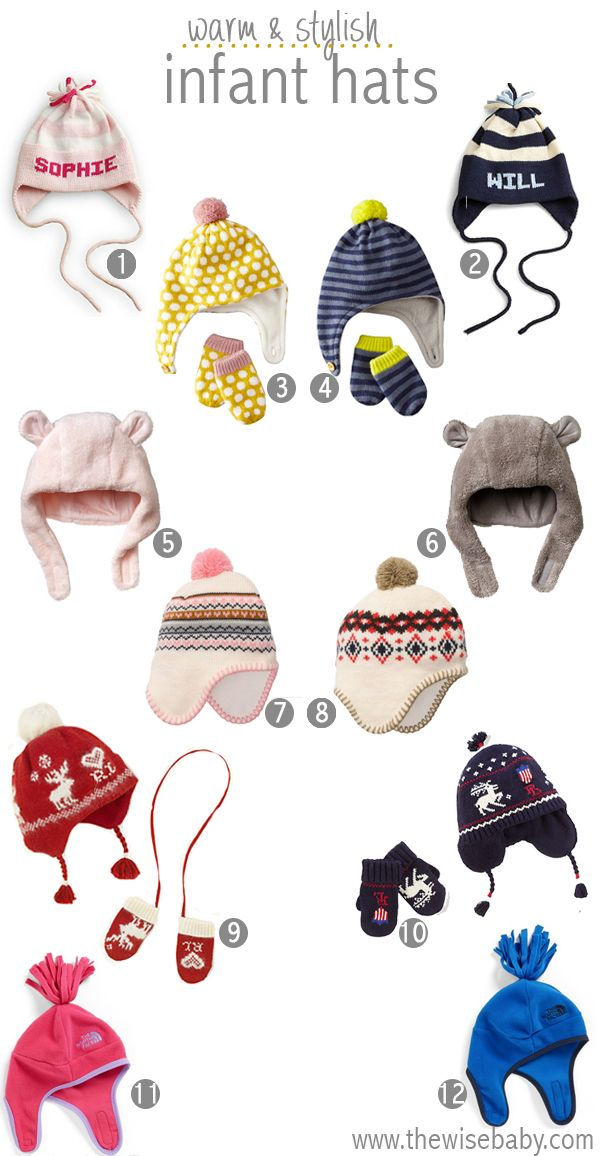 Cute as a button infant winter hats!