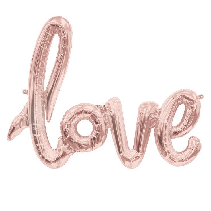 Der ganz neue unglaublich coole Style. Script Ballons. Der LOVE-Schriftzug Ballon wird mit dem mitgelieferten Strohhalm befüllt und dann als Deko über die Candybar oder auch an anderen schönen Stellen in der Location aufgehangen....