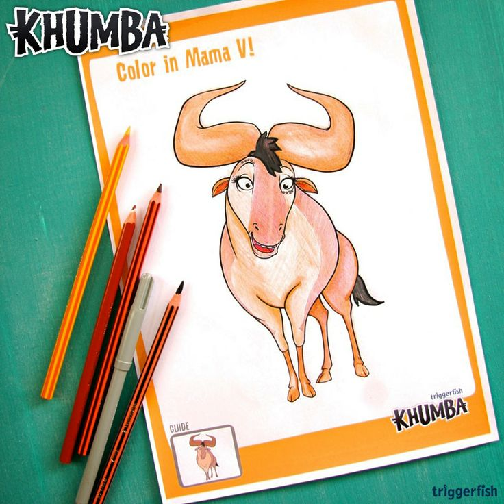 "Psst. Khumba Kids, showing off your true colors yet??  You totally can, by coloring in Mama V today. ;) Send it back to us, we would LOVE to see yours!  Have you visited the Kidzone on the Website yet? Plenty of Activities to download for the holidays!  Website: www.khumbamovie.com  We have let the ""zebra"" out the ""bush"" !! ALL NEW KHUMBA GAMES & APPS are COMING SOON!!"