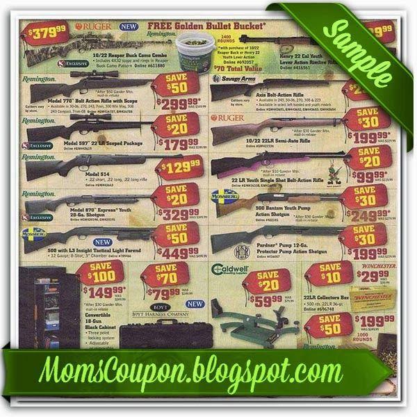 Gander mountain coupon code firearms