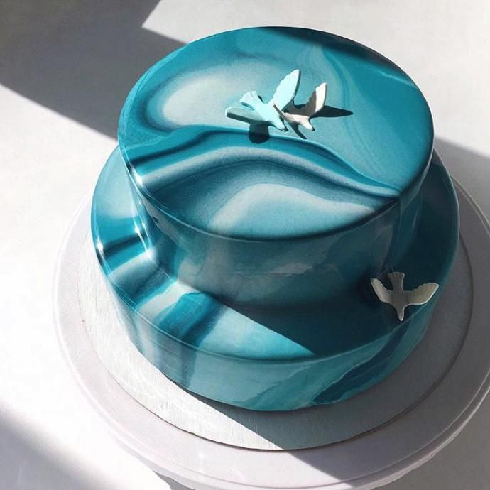 Mirror-Glazed Cakes By Ksenia Penkina