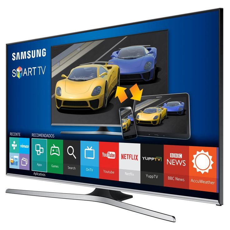 "Smart TV LED 55"" Full HD Samsung 55J5500 com Connect Share Movie, Screen Mirroring, Wi-Fi, Entradas HDMI e US 
