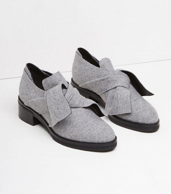 Proenza Schouler Felted Obi Knot Loafers