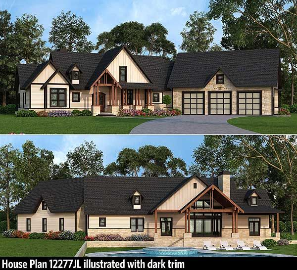 Plan 12276jl rustic ranch with bonus upstairs spaces house plans bonus rooms and jack o 39 connell - House plans with bonus rooms upstairs ...