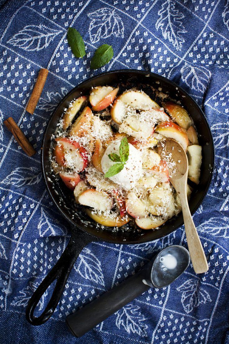 Snabb äppeldessert, receptet hittar du här: http://martha.fi/sv/radgivning/recept/view-93381-4907