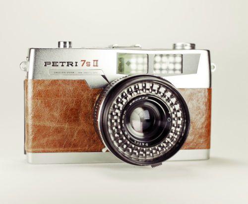Petri 7s II Rangefinder / Brown Leather / LightBurn Film Camera / 45mm f2.8 Lens / £46.99