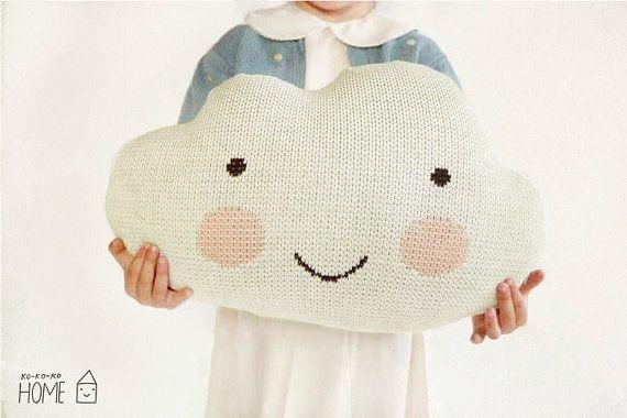 Knit Cloud Pillow :) ECRU