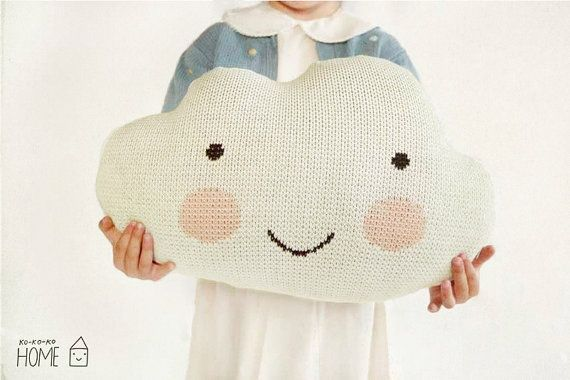 Knit Cloud Pillow :) ECRU by Etsy @Luvocracy |