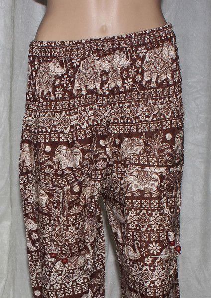 Harem Pants – Custom Aladdin Style Pants Summer Harem Yoga Pants – a unique product by IndianCraftPalace on DaWanda