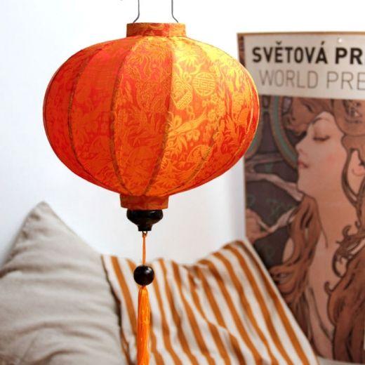 Lampion z jedwabiu, abażur Balloon - pomarańczowy