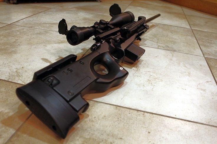 Marlin Xt 22 Into An Aics L96 Stock Sniper Rifle Guns