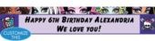 Monster High Custom Banner 6ft- Girls Birthday Banners- Custom Banners- Birthday Decorations- Birthday Party Supplies - Party City