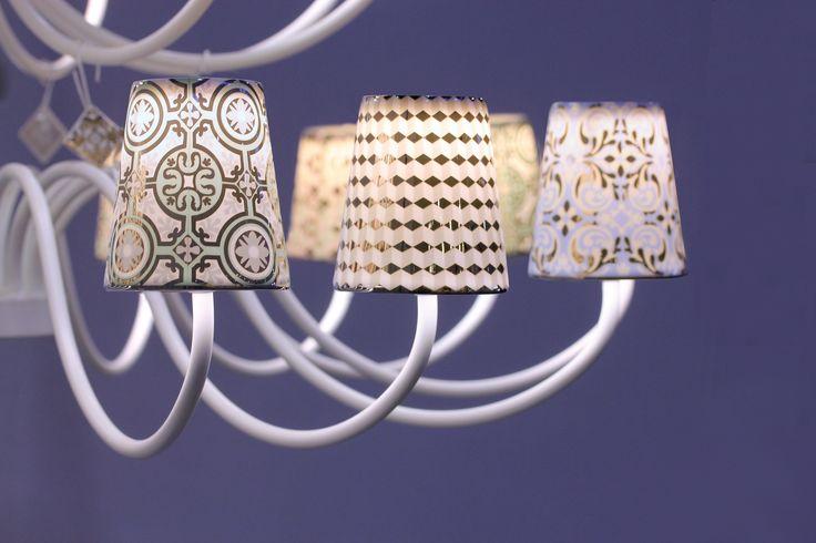 Les luminaires d'exception Rose et Marius. #interchangeables #porcelainedeLimoges #CarreauxdeCiment