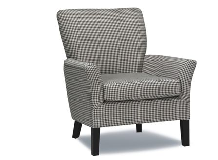 Houndstooth pattern chair.