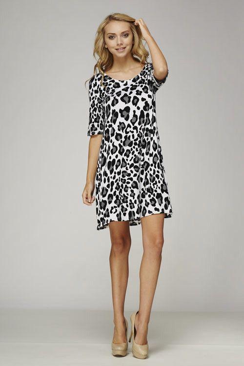 Leopard Print Tee Dress