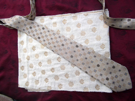 Vintage shawl Atelier Versace vintage tie beige and by CHEZELVIRE, $20.00