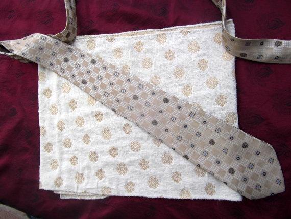 Vintage shawl Atelier Versace vintage tie beige and by CHEZELVIRE, $20.00