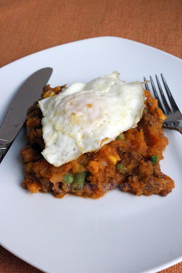Delicioso y tradicional plato de la cocina chilena, el chárquican…