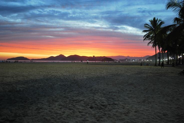 Pôr do sol - Santos