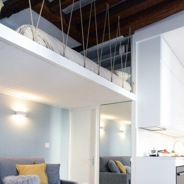 Studio Paris 6 23 M2 Renoves Avec Mezzanine En 2020 Loft