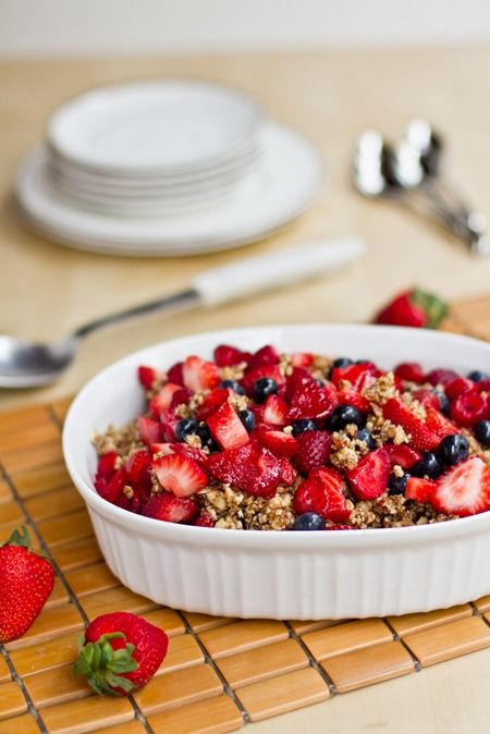 Raw Triple Berry Crisp — Oh She Glows | A Kind Diet / Food ...