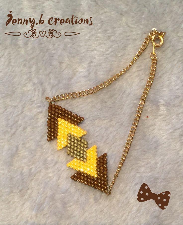 Bracelet Géométrique en perles de verre miyuki : Bracelet par jenny-b-creation