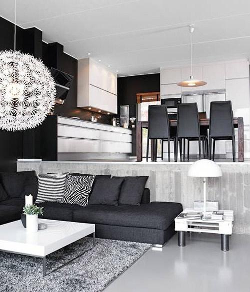 keittiö & olohuone samaa tilaa muttei kuitenkaan...