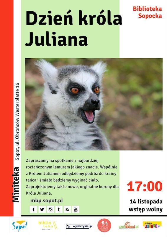 #mbpsopot #bibliotekasopocka #sopot #biblioteka #library #event #poster #plakat #forkids #dzieci #Julian #lemur
