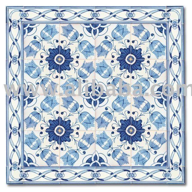 tradizionale portoghese tutti fatto artigianale pittura decorazione della parete piastrelle-piastrelle di ceramica-Id prodotto:100974378-ita...