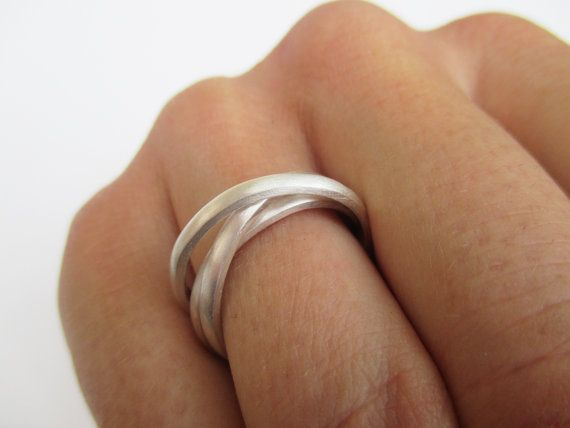 Russian wedding ring (three cord ring) solid silver