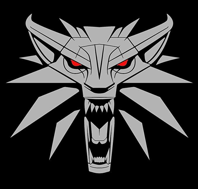 The Witcher Medallion Decal H 6 By L 7 Inches Silver And Red Please Message Us For More Colors Witcher Medallion The Witcher Witcher Tattoo