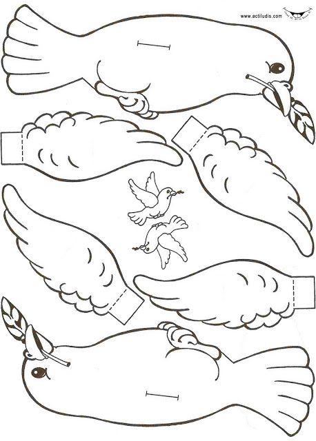 Noahs Ark Dove Craft Armar Paloma Shalom