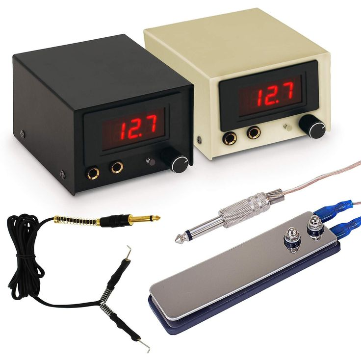 Tattoo Power Supply Kit for Machine with Pedal - Digital LCD