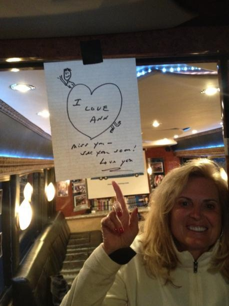 Mitt and I just missed each other on the road in Michigan--here's the note he left.