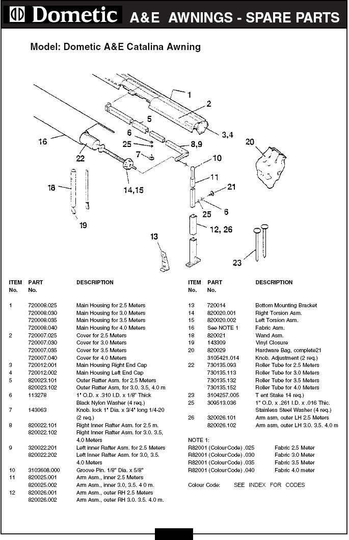 Dometic Rv Awning Parts Diagram Camping R V Wiring