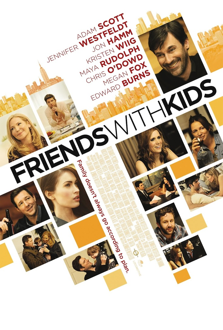 Friends With Kids with Jennifer Westfeldt and Adam Scott. I watched this film on the flight to Dubai. It's a real chick flick, a bit cheesy, but a good film.