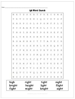 Spelling Pattern igh - A Week of Lesson Plans,... by Mrs Wenning's Classroom   Teachers Pay Teachers