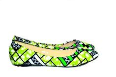 Wedding Flats - Bridal Ballet Flats, African Print Flats, Green Wedding Flats…