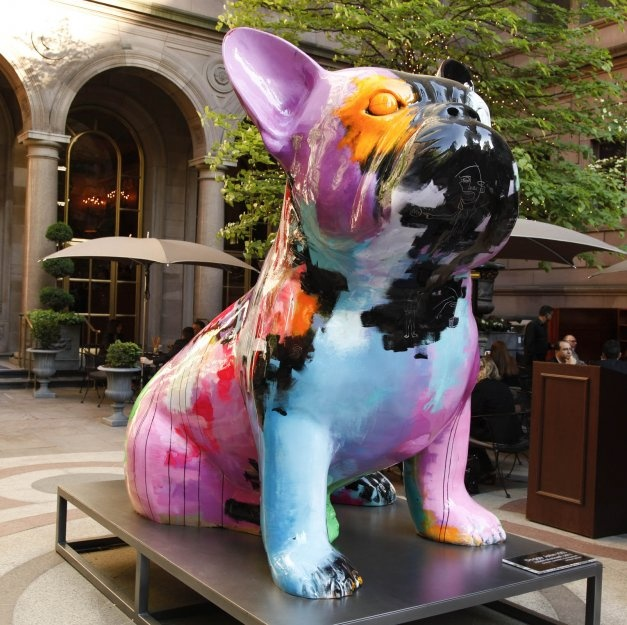 "Julien Marinetti's ""Doggy John"" Guards the Palace Gates  French bulldog NY!!"