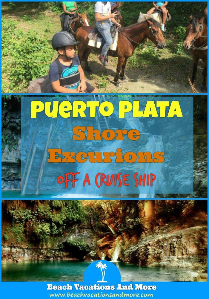 Puerto Plata shore excursions: Damajagua Waterfalls, Rancho Don Fernando, Amber Cove, Horseback Riding, Waterfalls, and more acivities off a cruise ship