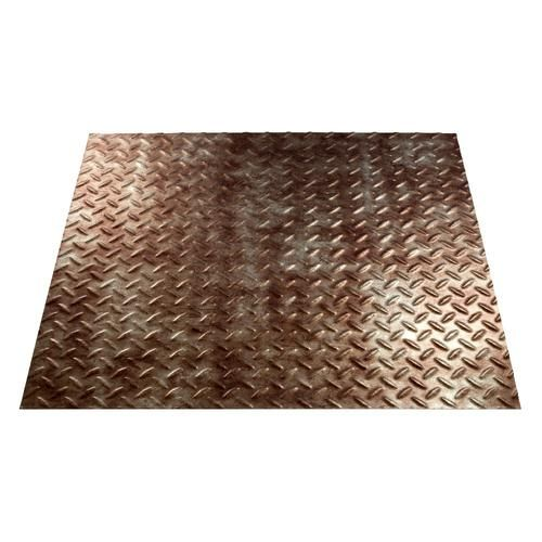 FASADE Diamond Plate - 4' x 8' PVC Wall Panel