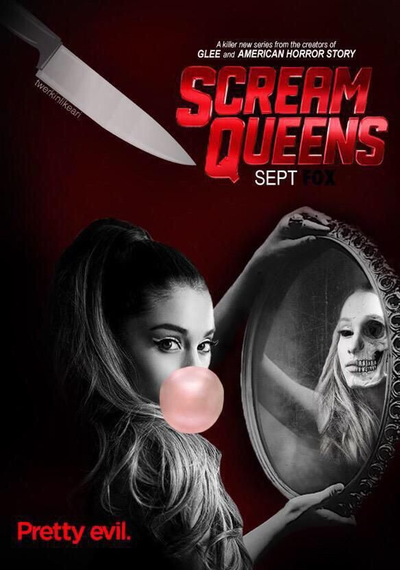 Ariana Grande - Scream Queens poster TV series that is adorably scary & the clothes are to die for